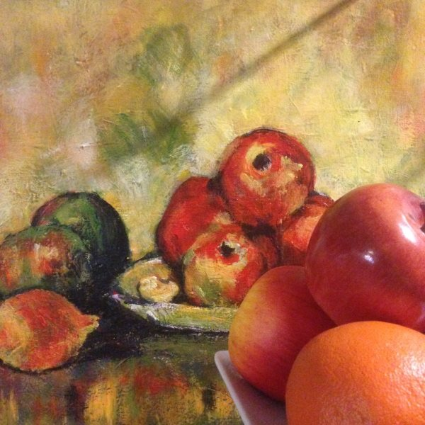 A Cezanne by Peter Inglis, posed in my kitchen!