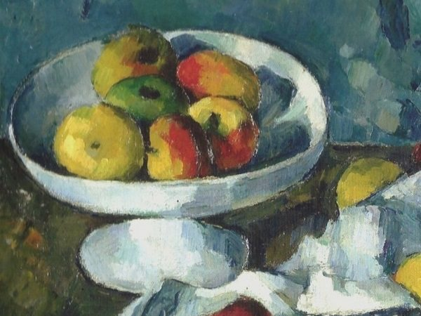 Cezanne's 'Still life with Fruit dish, Apples and Bread'
