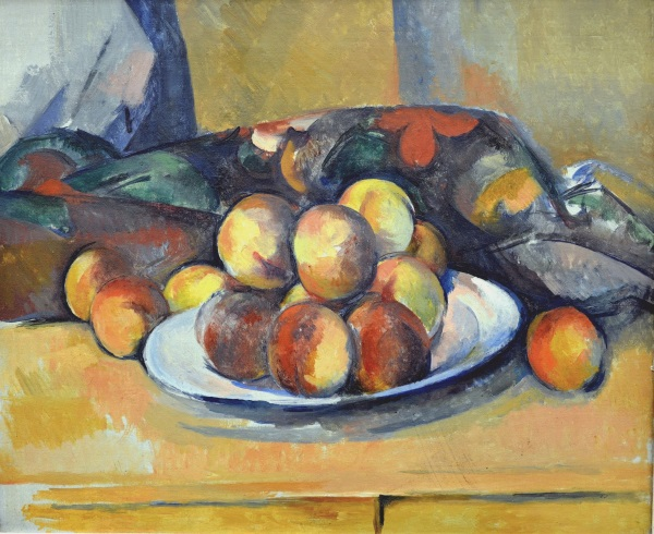 "Cezanne's ""Still Life with a plate of Peaches"" from 1900."