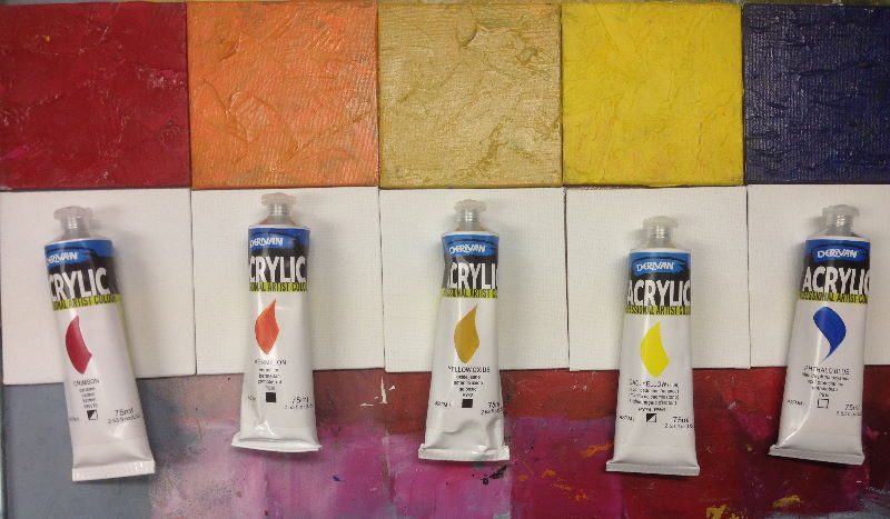 Derivan Acrylic Professional paints \\o// Learn how to use these at Inglis Academy - www.inglisacademy.com