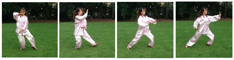 A sequence of tai chi moves