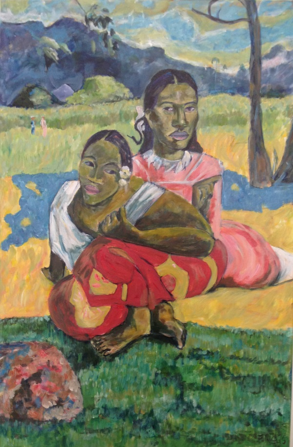 Gauguin, ' When will you Marry? (1899) ' painted by Sydney artist Peter Inglis.