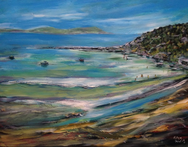 Toukley Beach - painting by Peter Inglis, 2016
