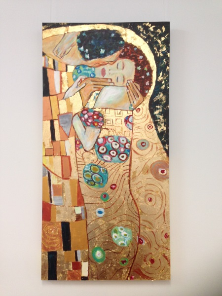 Klimt: ' The Kiss ', 1908 ' painted by Sydney artist Peter Inglis.