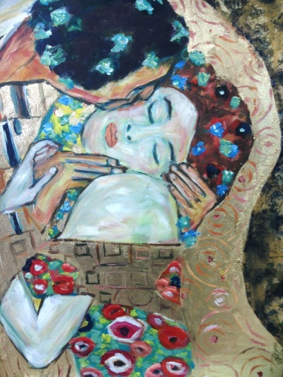 Klimt: The Kiss - painted by Peter Inglis