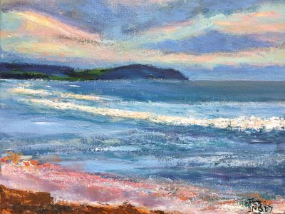Dee Why Beach and Long Reef, Sydney - painting © 2017 Peter Inglis.