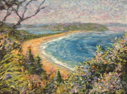 Palm Beach from Bible Garden - ala Monet, by Peter Inglis