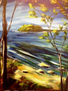 'Easy Aussie Landscape' - An original Australian Landscape by Peter Inglis' - painted in just one 2 hour session!.