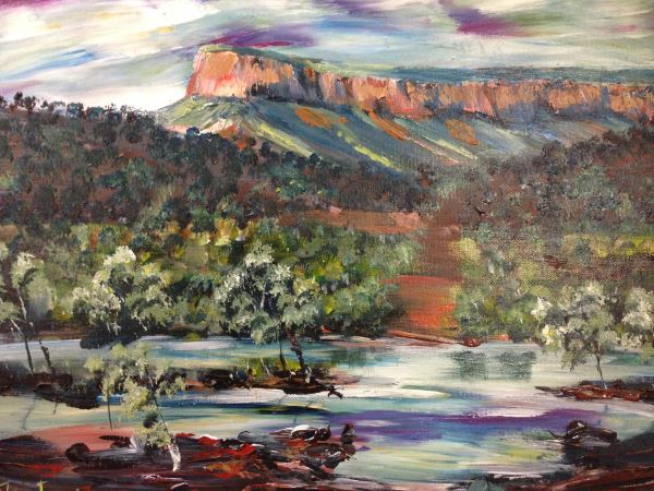 Pentecost River, the Kimberleys, painted in the style of Monet by Peter Inglis.