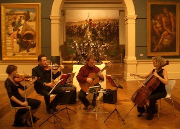 Peter Inglis Quartet performing at the Art Gallery of NSW