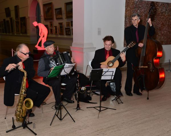 Peter Inglis Jazz Quartet in performance at the Art Gallery of N.S.W.