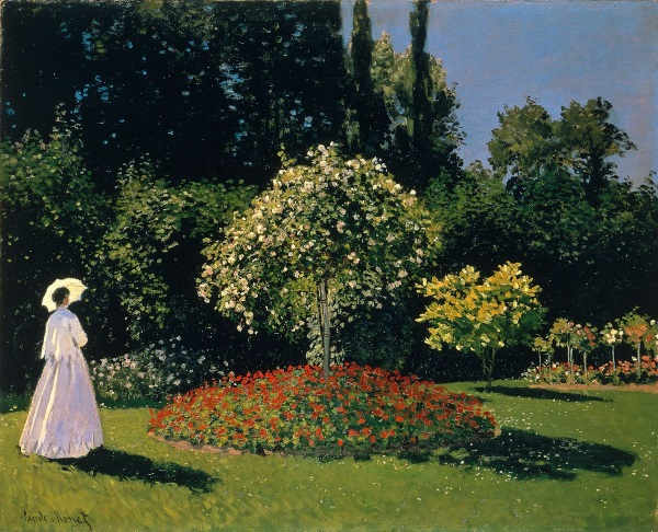 Monet: Jeanne Marguerite Lecadre in the Garden, 1866.