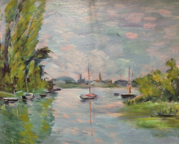 Monet's Argenteuil from a small arm of the Seine, 1872' painted by Sydney artist Peter Inglis.
