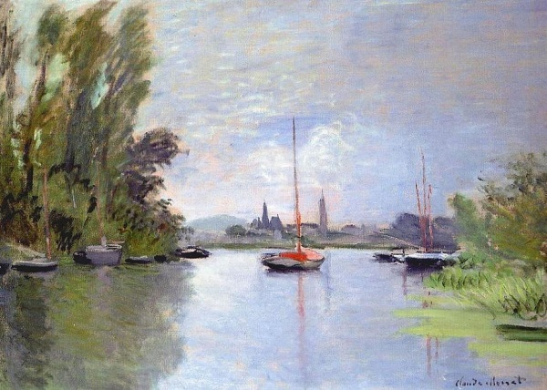 Monet: 'Argenteuil from a small arm of the Seine, 1872.'