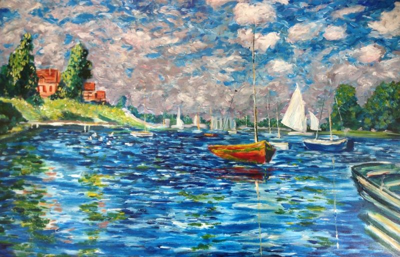 Monet's ' Boats at Argenteuil, #1 ' painted by Sydney artist Peter Inglis.