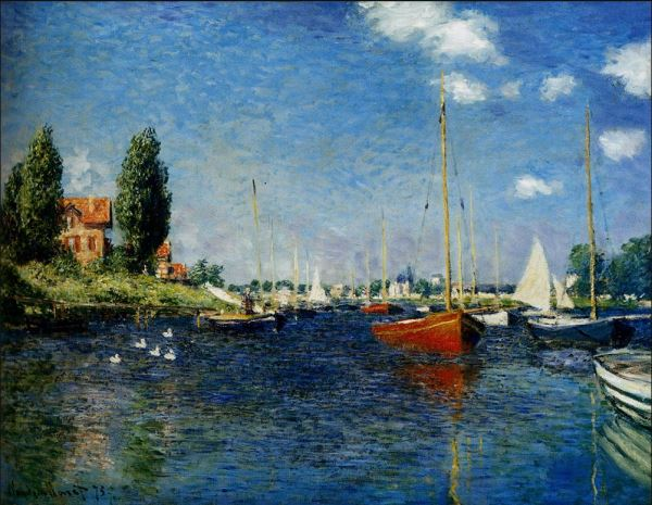 Monet: ' Boats at Argenteuil, #1.'