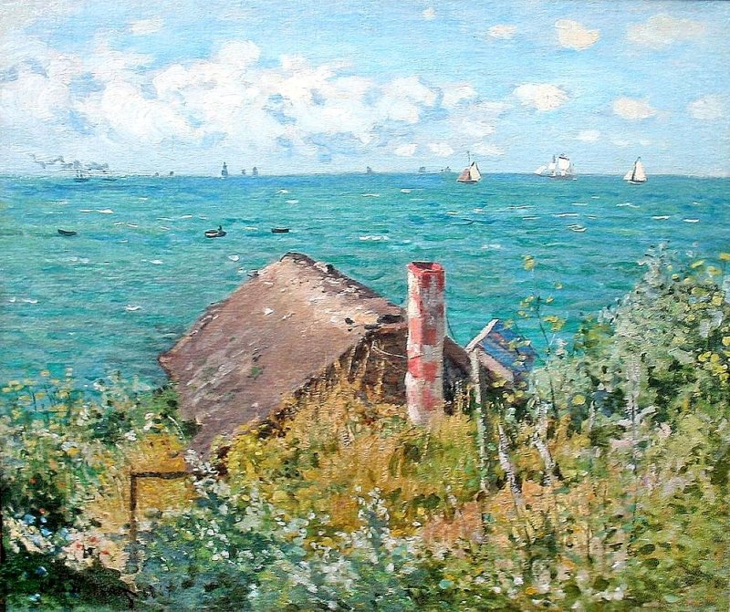 Monet: Cabin at Sainte-Adresse, 1867