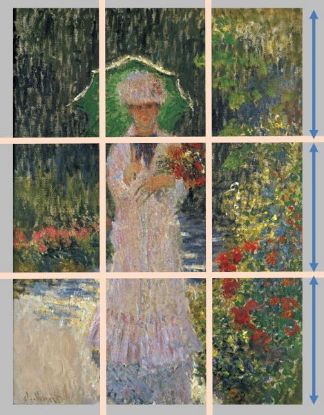 Monet: Camille with Green Parasol, 1876 \\o// Paint this at Inglis Academy - www.inglisacademy.com.