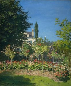 Monet: Garden in Bloom at Sainte-Addresse, 1866
