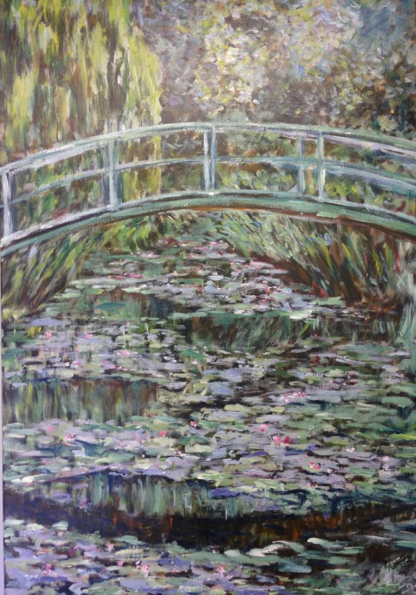 Monet: Japanese Bridge, 1899 - curriculum painting by Peter Inglis.