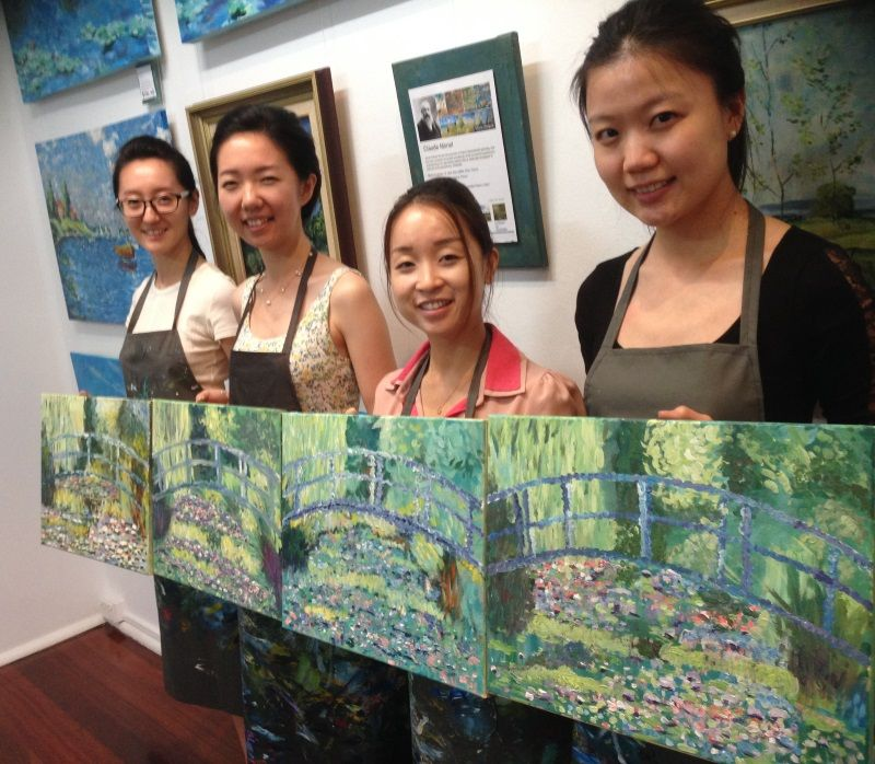 After only 4 hours these students had completed their own unique interpretation of an Masterwork by Van Gogh. Inglis Academy teaches you the same processes that were used by Monet, Cezanne and Van Gogh.