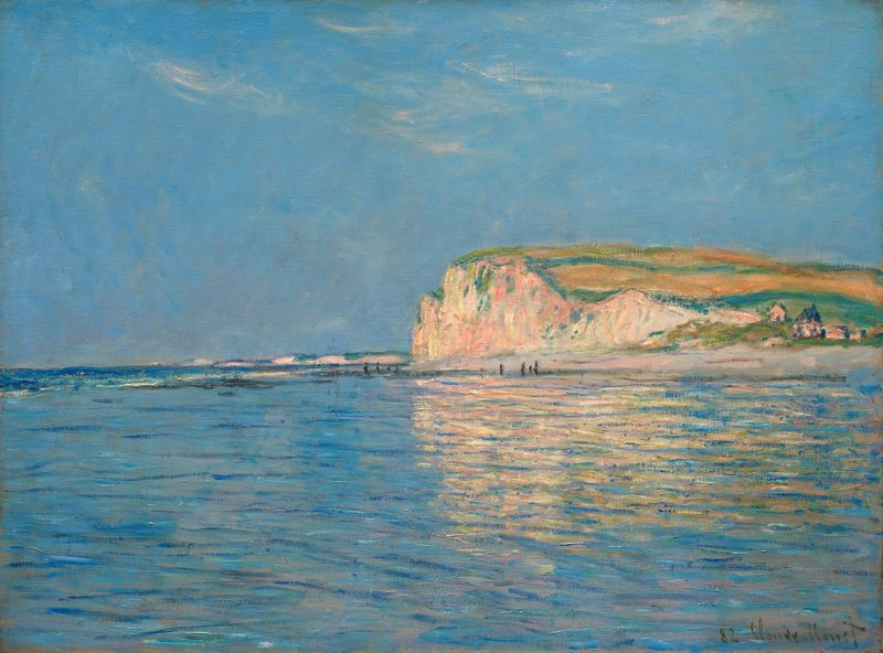 Monet: Low tide at Pourville, 1882 \\o// Learn this painting at Inglis Academy - www.inglisacademy.com