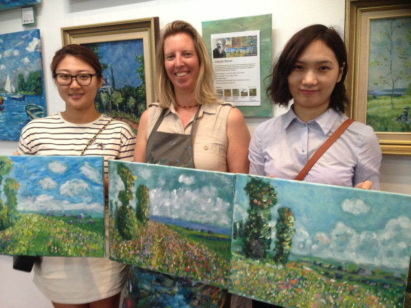 After only 4 hours these students had completed their own unique interpretation of an Masterwork by Monet. Inglis Academy teaches you the same processes that were used by Monet, Cezanne and Van Gogh.