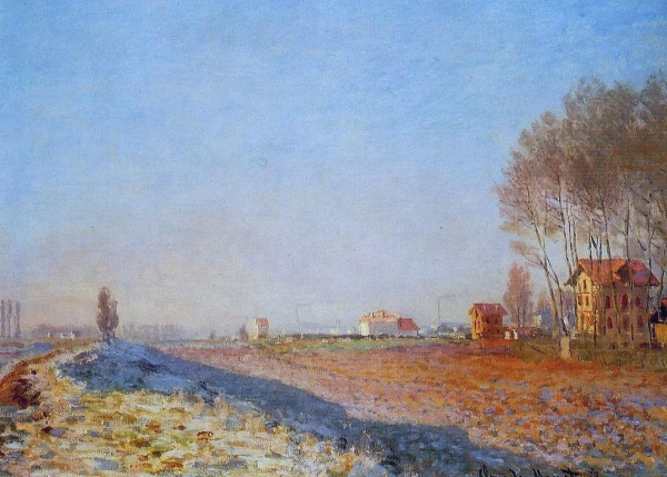 Monet: ' Plain at Colombes with white Frost, 1873.'