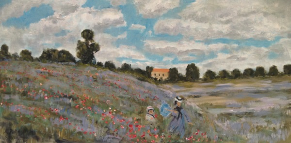 Poppy Field in Argenteuil by Claude Monet