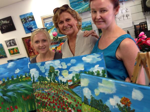 Lindsay's painting at Inglis Academy | More at www.inglisacademy.com