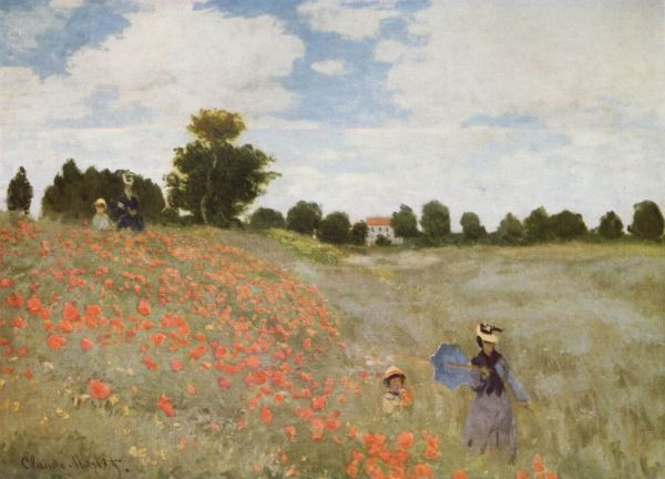 Monet: Poppy field near Argenteuil, 1873