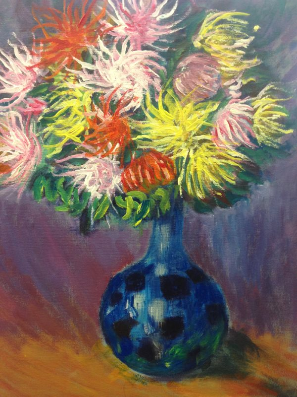 Vase of Chrysanthemums, 1882 by Claude Monet.