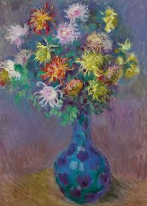 Monet: Vase of Chrysanthemums, 1882