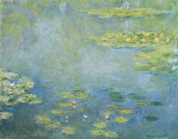 Monet: Waterlilies, 1906, No.1. Water Lilies (or Nymphéas) is a series of approximately 250 oil paintings by French Impressionist Claude Monet.