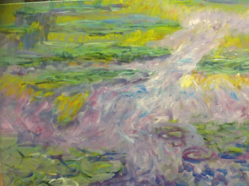 Monet: Water Lilies 1907, No.1 - painting © 2019 by Peter Inglis at Inglis Academy (www.inglisacademy.com)