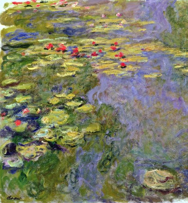 Monet: Waterlilies, 1919, No.2 \\o// Paint this in just one session at Inglis Academy - www.inglisacademy.com.
