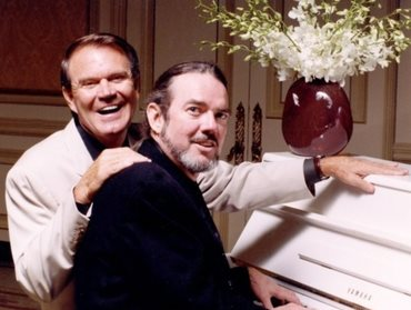The late Glen Campbell and Jimmy Webb