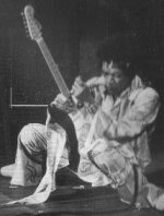 Jimi Hendrix playing loud, possibly too loud for an orchestral gig!