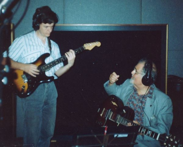 Peter Inglis and Ike Isaacs in the recording studio.
