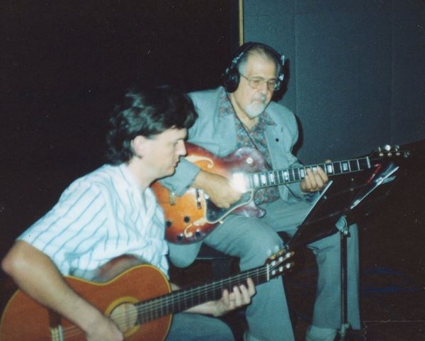 "Ike Isaacs and Peter Inglis recording Ian Cooper's debut album ""Soundpost"""