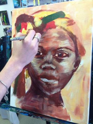 Paint your Self Portrait - a boutique art coaching session at Inglis Academy.