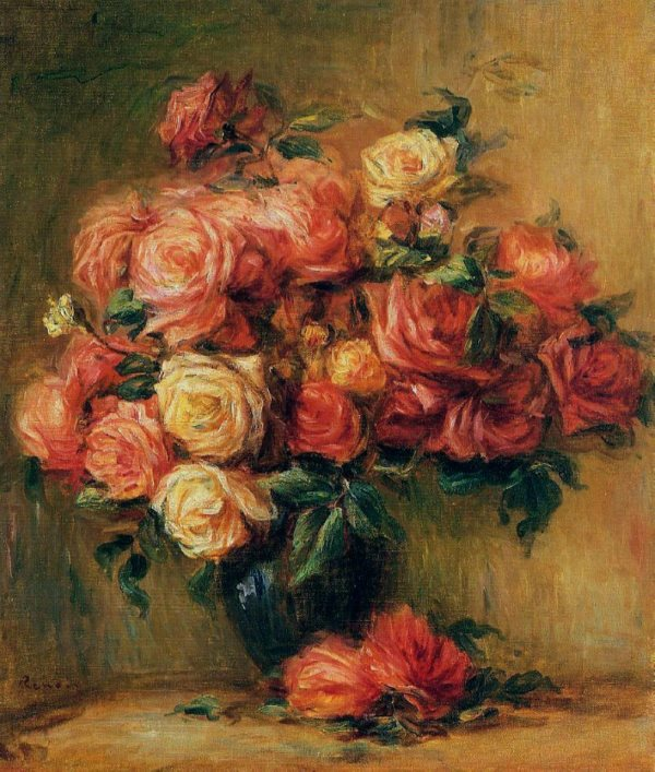 Renoir: Bouquet of Roses, 1880.