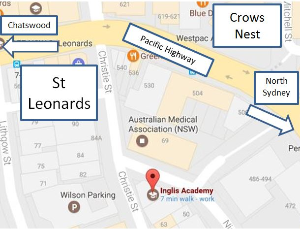 Inglis Academy, Crows Nest - map