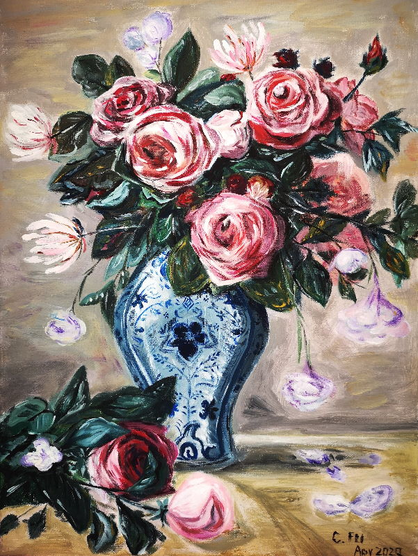 Cynthia's Renoir painting \\o// Enjoy the painting coaching at Inglis Academy - www.inglisacademy.com