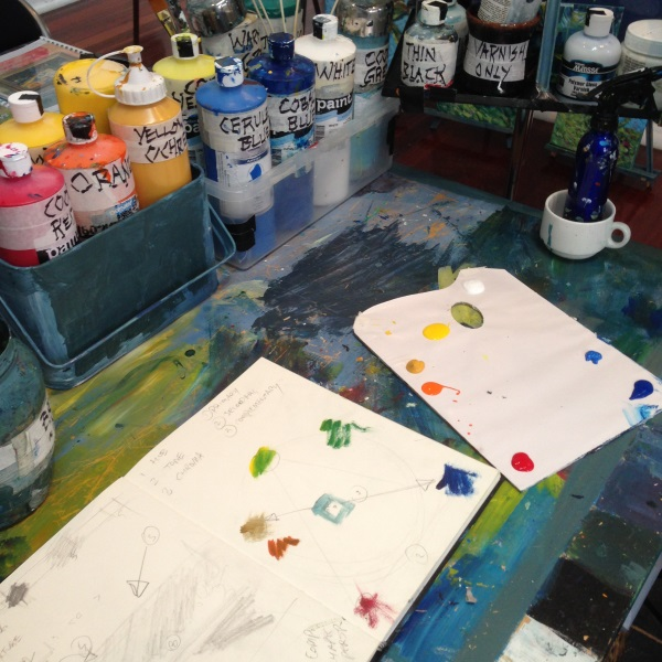Peter Inglis Art - my studio space