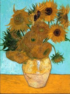 Van Gogh: Sunflowers version 3