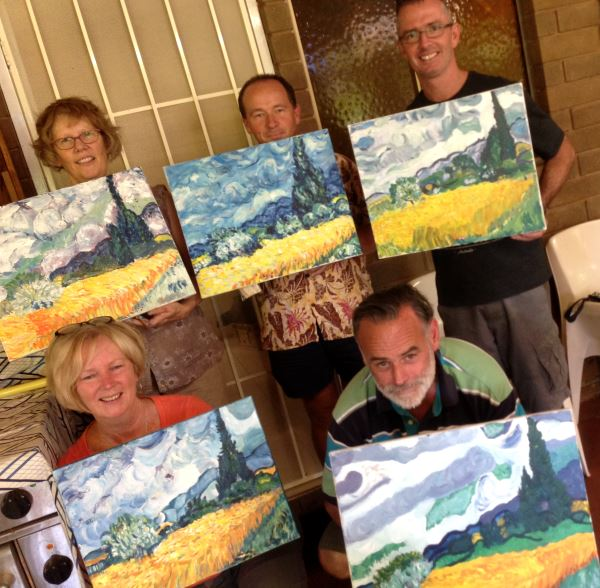 Paint a Masterwork by Van Gogh or Cezanne in our 1/2 day Corporate Training session!