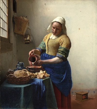 Vermeer: 'The Milkmaid, 1660'